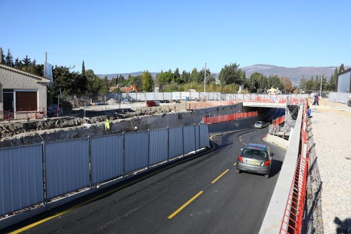 Le chantier de la ligne Cannes-Grasse