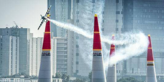 Lors d'une épreuve à Abou Dhabi.
