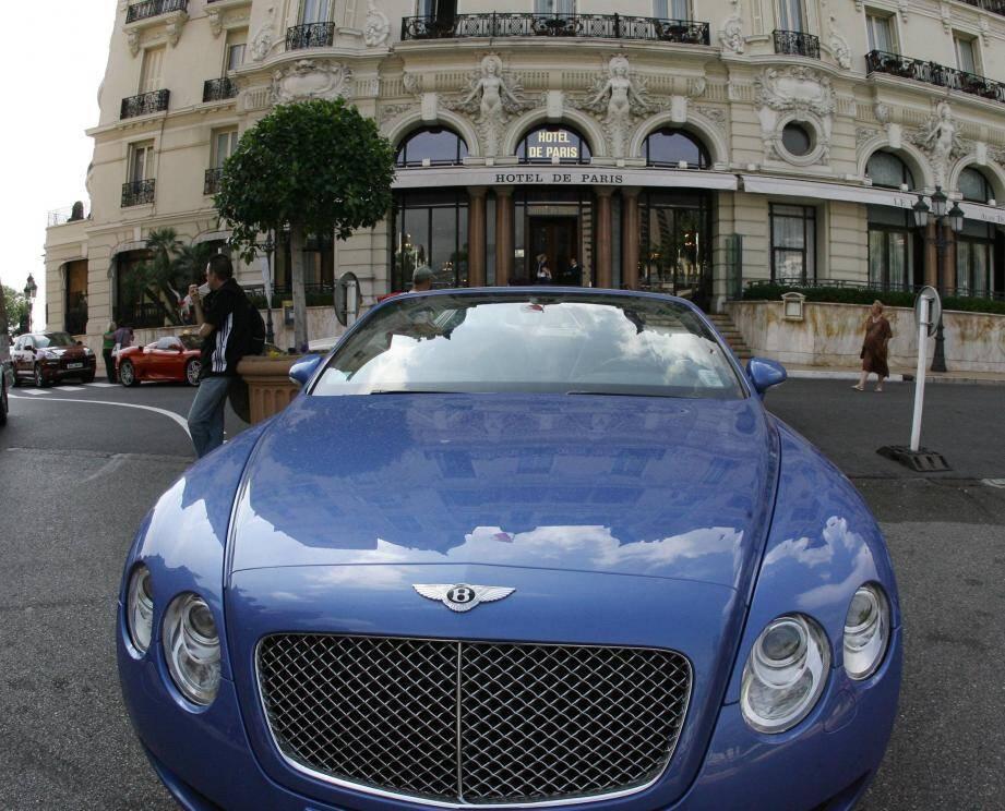 Illustration  voiture de luxe en principauté de Monaco.