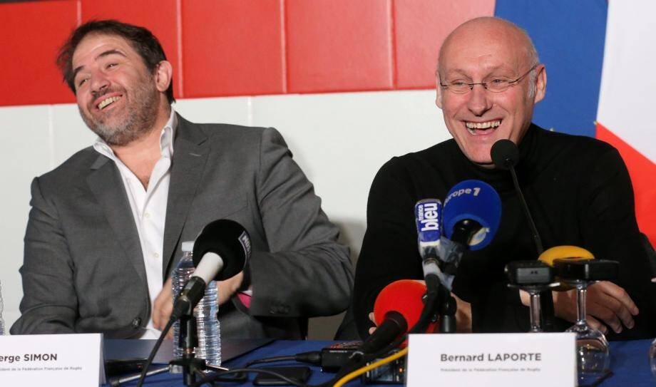 Serge Simon et Bernard Laporte.