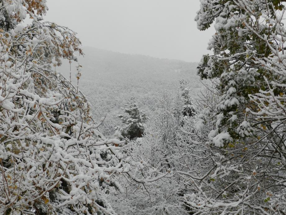 La neige à Valderoure le 6 novembre 2017.
