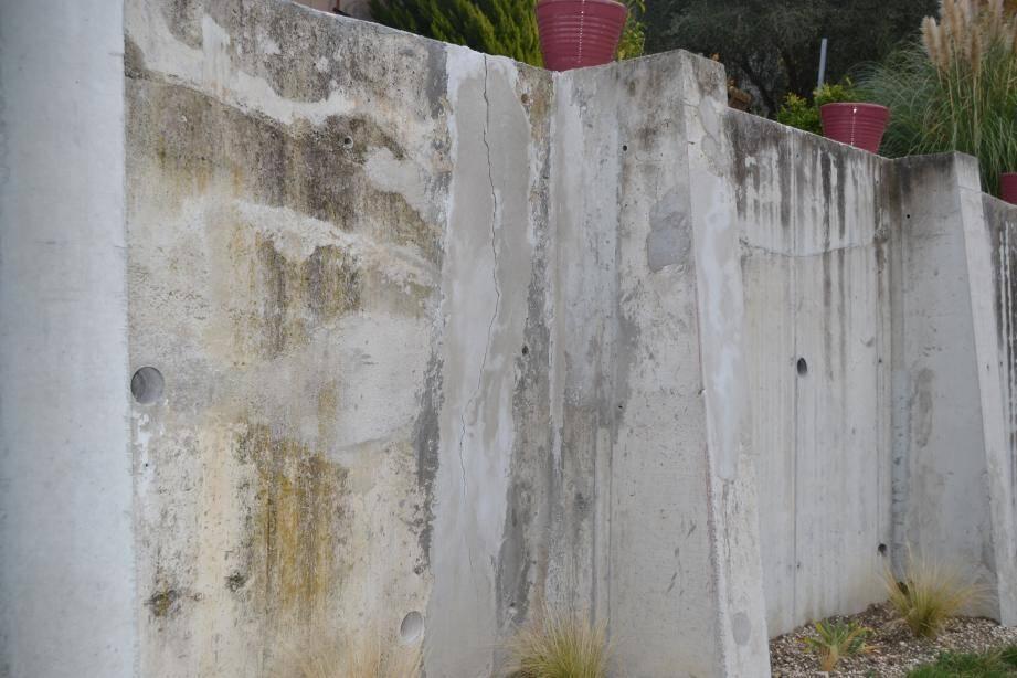 Le mur et la fissure, objets du litige.
