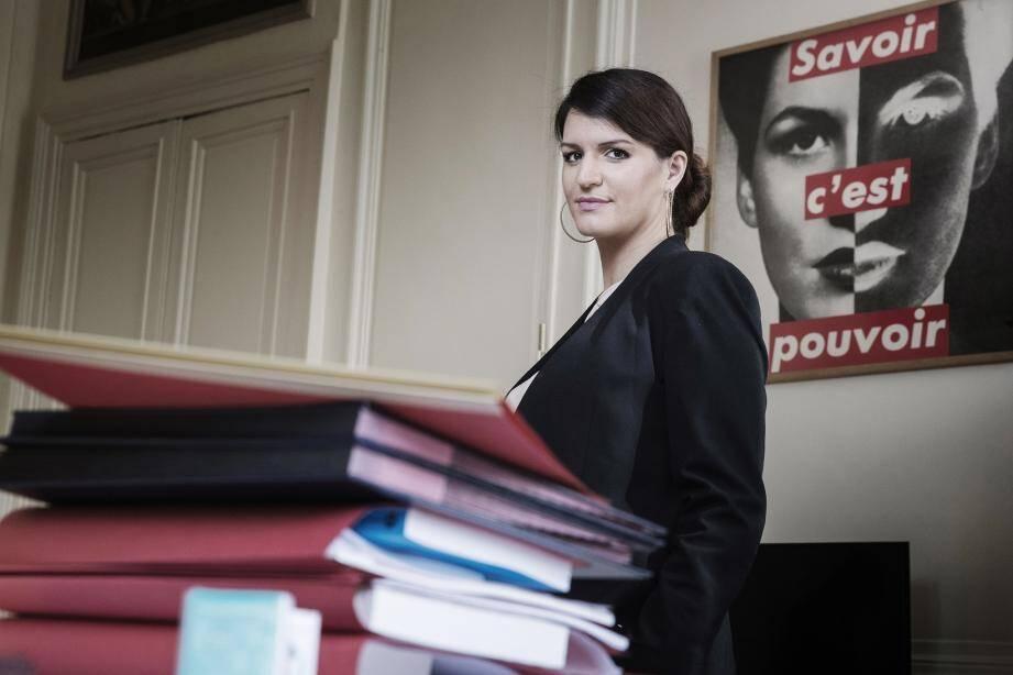Marlène Schiappa, Secrétaire d'État chargée de l'égalité entre les femmes et les hommes.