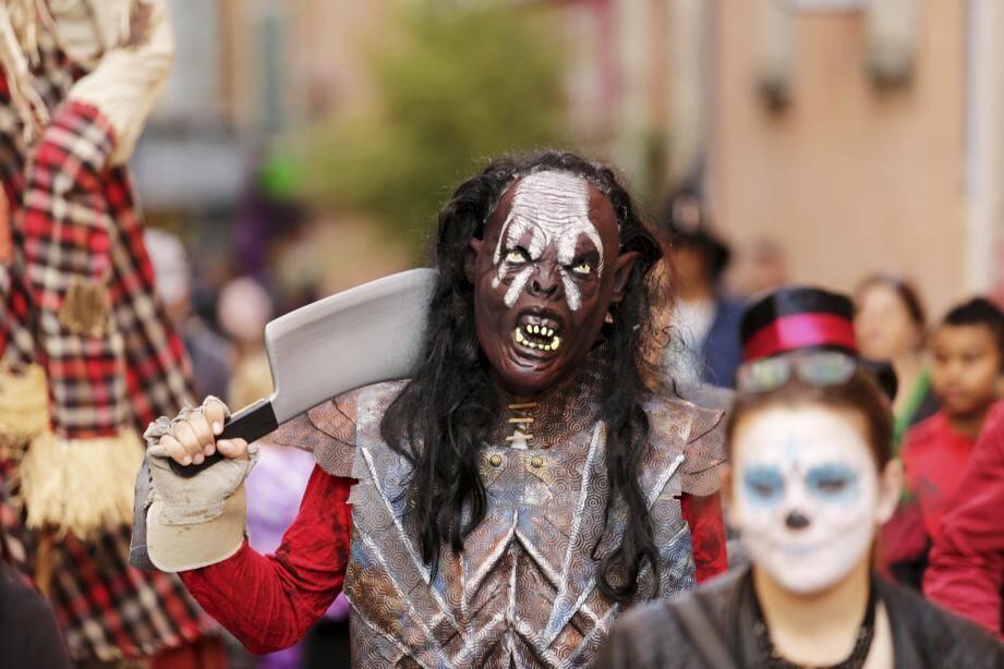 Halloween dans les rues de Draguignan.