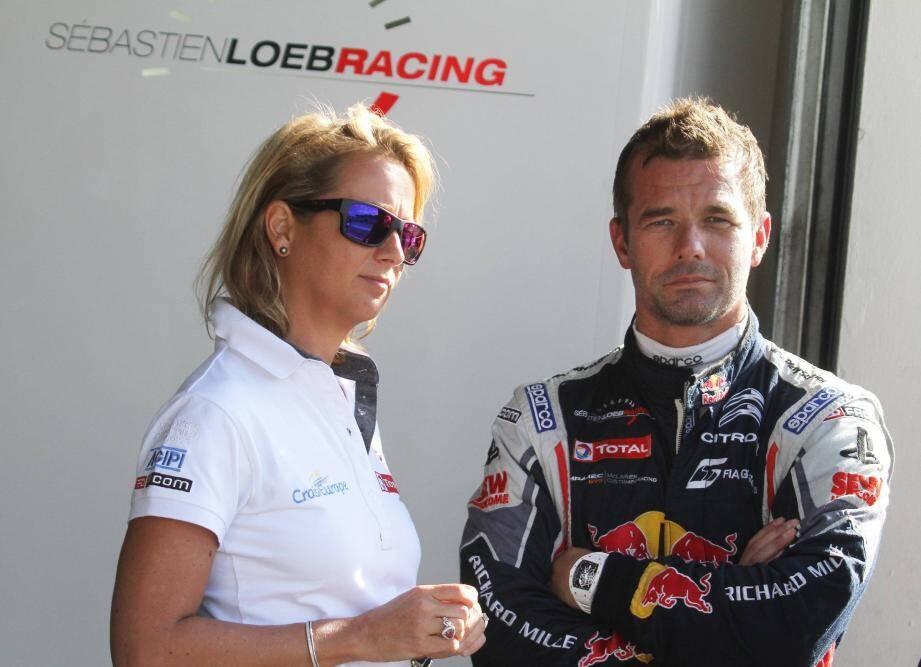 Séverine et Sébastien Loeb.