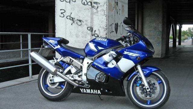 La Yamaha R6 dans laquelle Arnaud va reposer.
