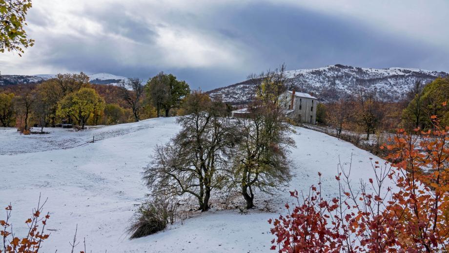 La neige à Canaux.