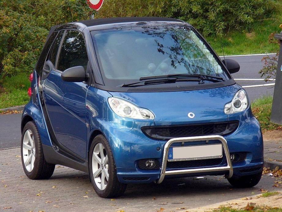 C'est la Smart Fortwo II qui statistiquement a le plus de chance d'être voléee en France.
