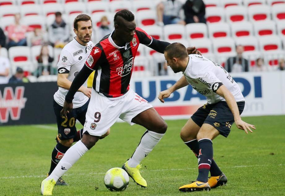 Mario Balotelli lors de la victoire contre Dijon dimanche.