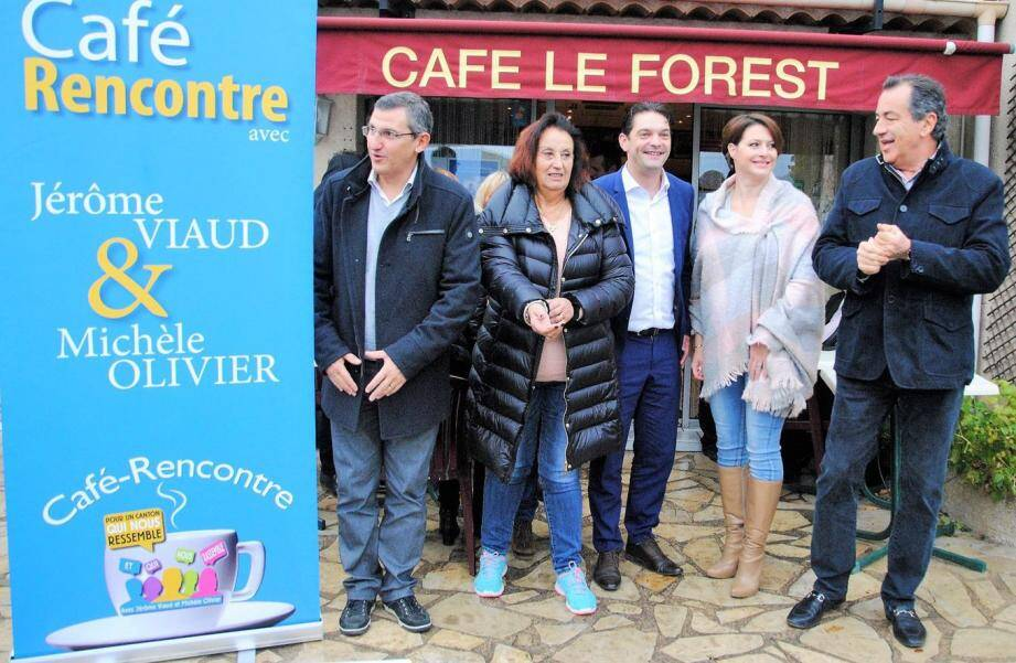 Une rencontre à laquelle assistaient François Balazun, maire du Tignet, Jean-Marc Délia, maire de Saint-Vallier, et Nathalie Dewez, adjointe aux affaires scolaires de Peymeinade. (DR)