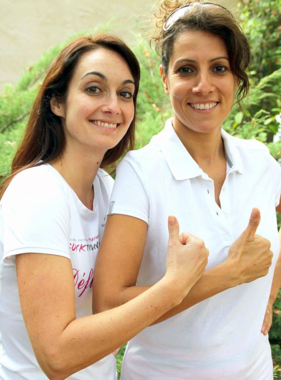 Aussi souriantes qu'aventureuses, les deux jeunes femmes s'engagent à fond.(Repro J.O.)