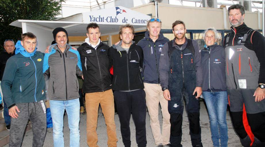 De Smet (B) , Pereira de Carvalho (entr belge), Queyroux, Van Laer (B), Bernaz, Guegen (YCC), Grené (YCC), Rambeau.(Photo G. M.