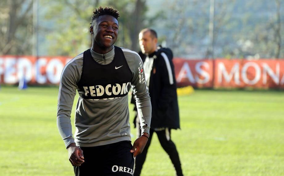 Kevin N'Doram, ici à l'entrainement avec l'AS Monaco.