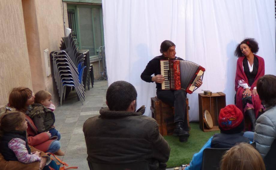 Luc Canavesio et Fathia Sadek à La Gaude.