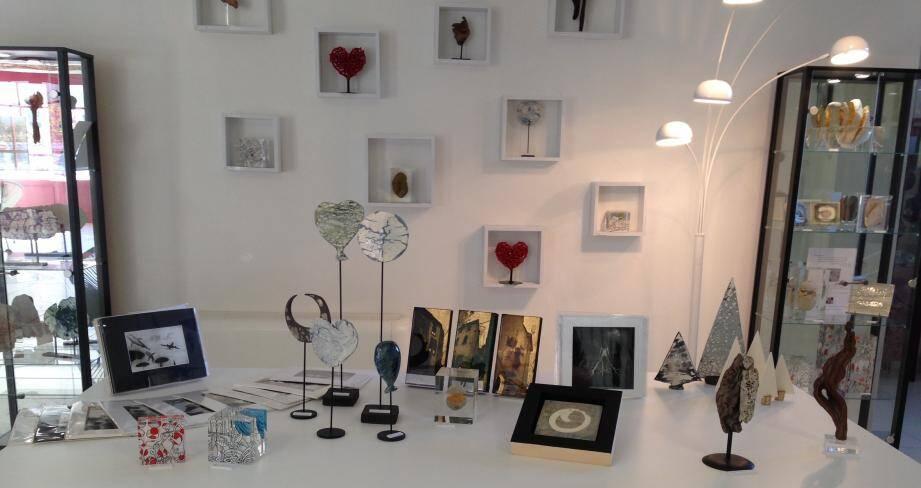 A partir de dimanche, les artistes de la galerie Innatendu Paul Conti font leur marché de Noël.(DR)