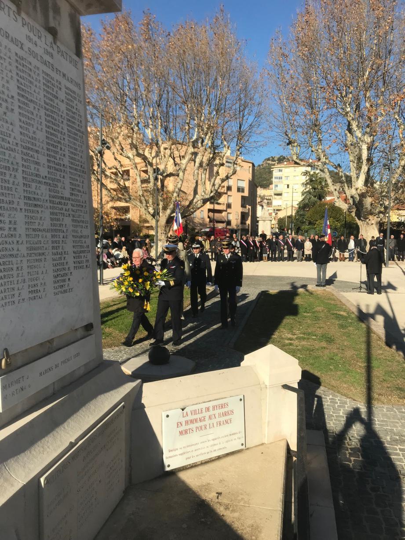 Accompagné des autorités militaires, le maire de la ville, Jean-Pierre Giran, a déposé, hier, une gerbe devant le monument aux morts de la place Théodore-Lefèvre en guise d'hommage aux soldats morts pour la France.