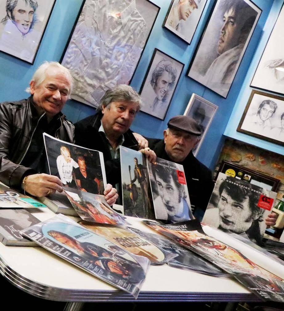 Georges Marinello, Jean-Marie Ferraro et Bernard Laboureau : trois Mentonnais inconditionnels de Johnny.