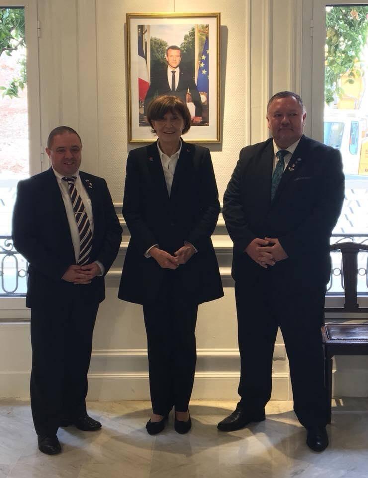 De gauche à droite : Thierry Chevallier, président ; Danielle Merlino, deuxième vice-présidente ; Jacques Voyes, premier vice-président. (DR)