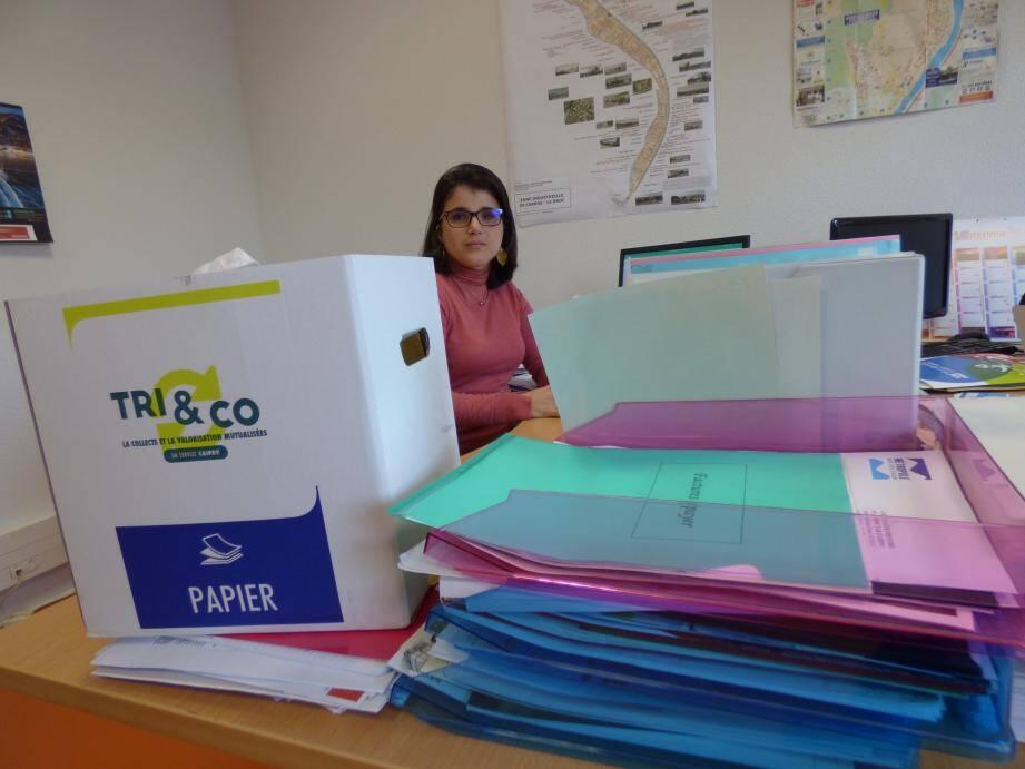 La boîte carton «Tri & Co» pour valoriser le papier blanc de bureau : la dernière initiative de l'union des CAIPDV de Carros-Le Broc et Gattières-Saint-Jeannet.