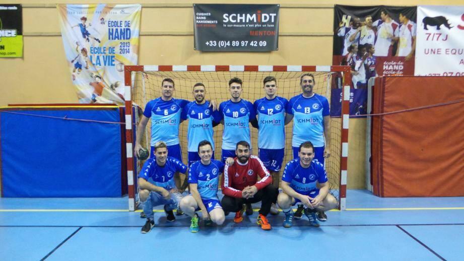 Menton handball termine avec les honneurs sa première partie de championnat. (DR)