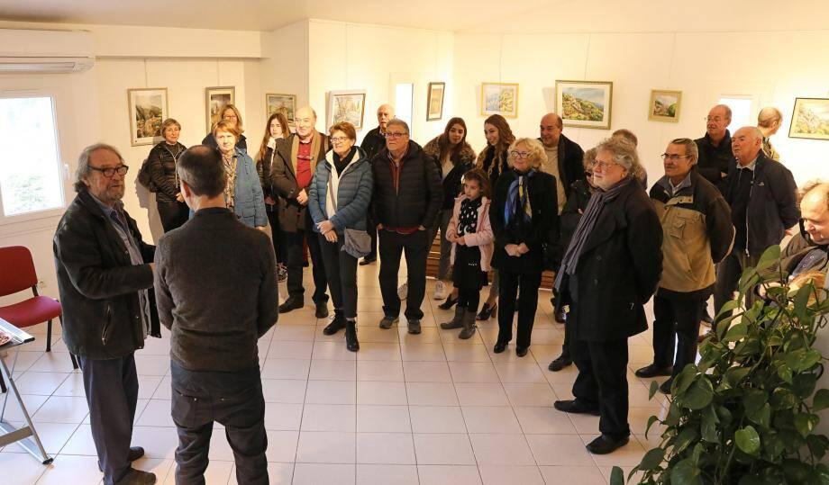 Le vernissage de l'exposition au Centre culturel était présenté par Jean-Claude Rosier, président des « Peintres du soleil ».