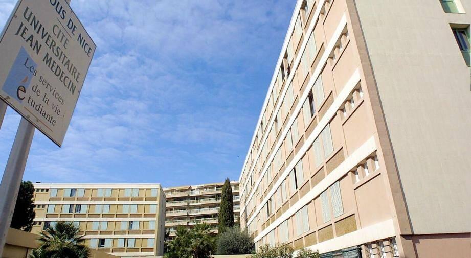 La cité universitaire Jean-Médecin, à Nice.