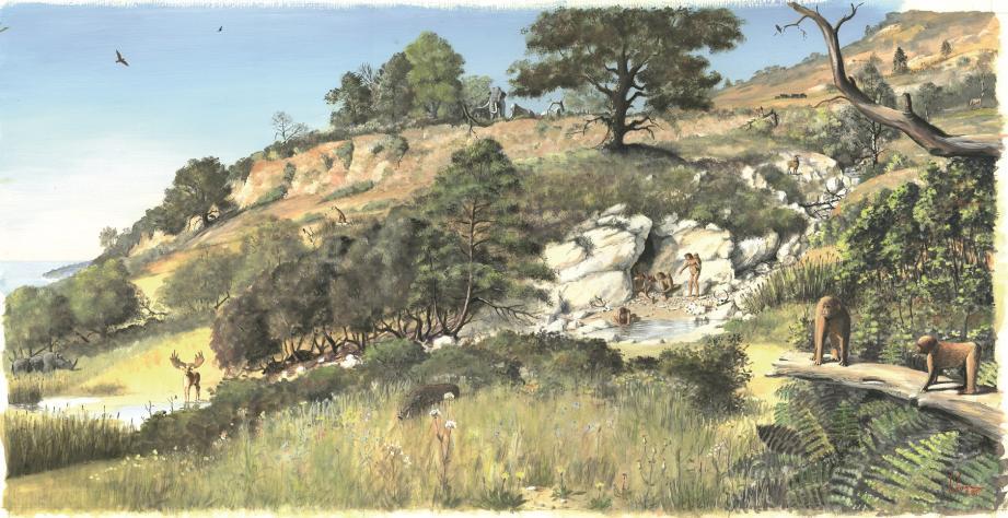 Il y a 1,2 million d'années, les premiers hommes se refugiaient dans la grotte du Vallonnet pour bivouaquer et manger les carcasses d'animaux laissées par les carnivores. Ils ne chassaient pas encore et n'avaient pas encore découvert le feu.
