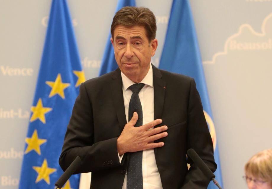 Charles-Ange Ginésy, lors de son accession au «perchoir» départemental, le 15 septembre 2017.
