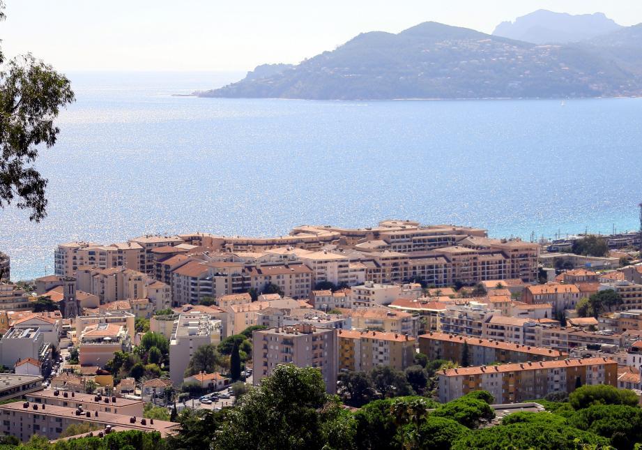 Une vue de Cannes.