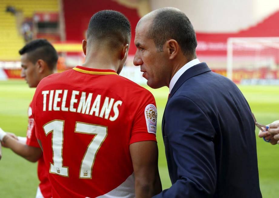 Tielemans ici avec son coach Leonardo Jardim.
