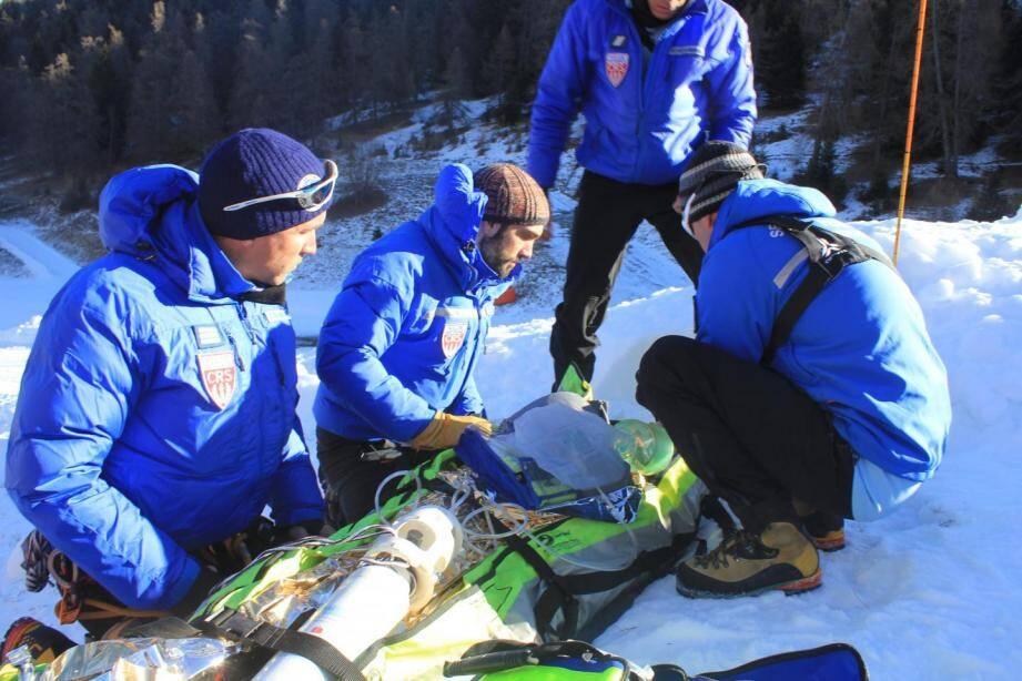 La CRS Alpes lors d'un exercice.