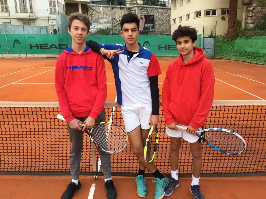 Bravo à Thomas Toulouse, Mathieu Seguin et Enzo Ginocchi.(DR)