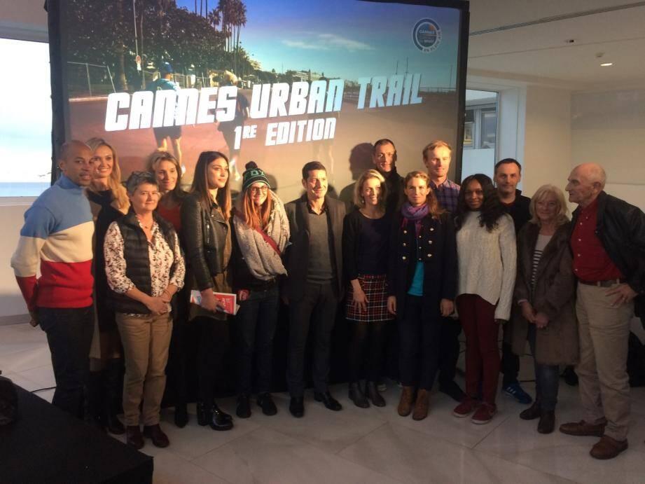 Il y avait du beau monde hier après-midi au Palais des festivals lors de la conférence de presse d'annonce de la première édition du Cannes Urban Trail dont Stéphane Diagana, William Motti, Victoria Ravva ou Ornella Ongaro.