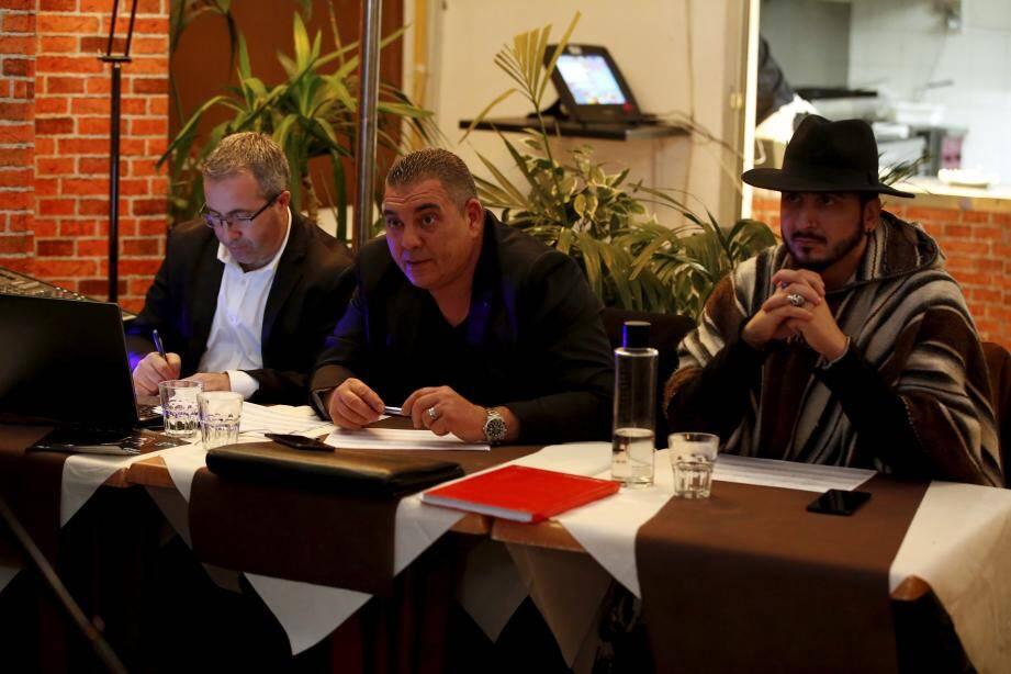Le jury, composé de Michele Zuppardo, Marc Arslanian et Krys Mosbah.