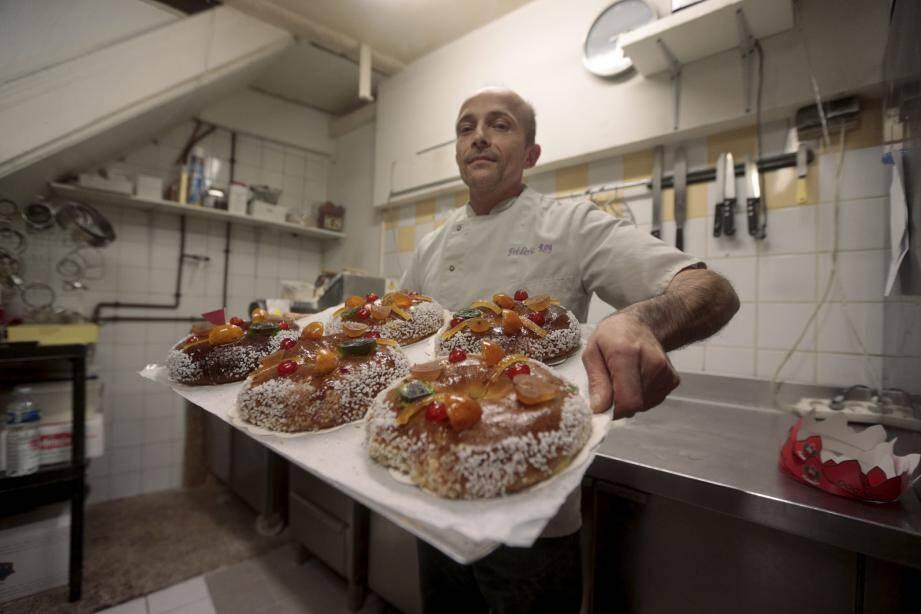 Frédéric Roy, défenseur d'un authentique travail artisanal de boulangerie-pâtisserie. Tous ses confrères niçois peuvent-ils en dire autant ?