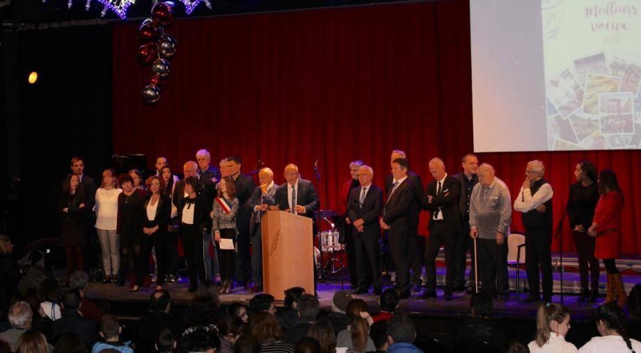 Le maire Christophe Etoré a invité la population, hier soir, pour sa première cérémonie de vœux.