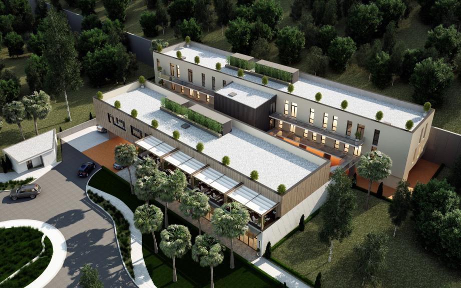 Un investisseemnt de 7,9 millions d'euros pour l'opération « Le Carré La Colle ». (Projection, cabinet d'architecte DGLa)