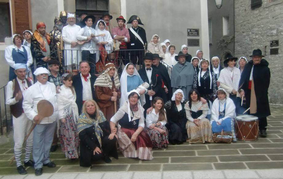 Les acteurs lors de la dernière répétition de la Pastorale à Annot.