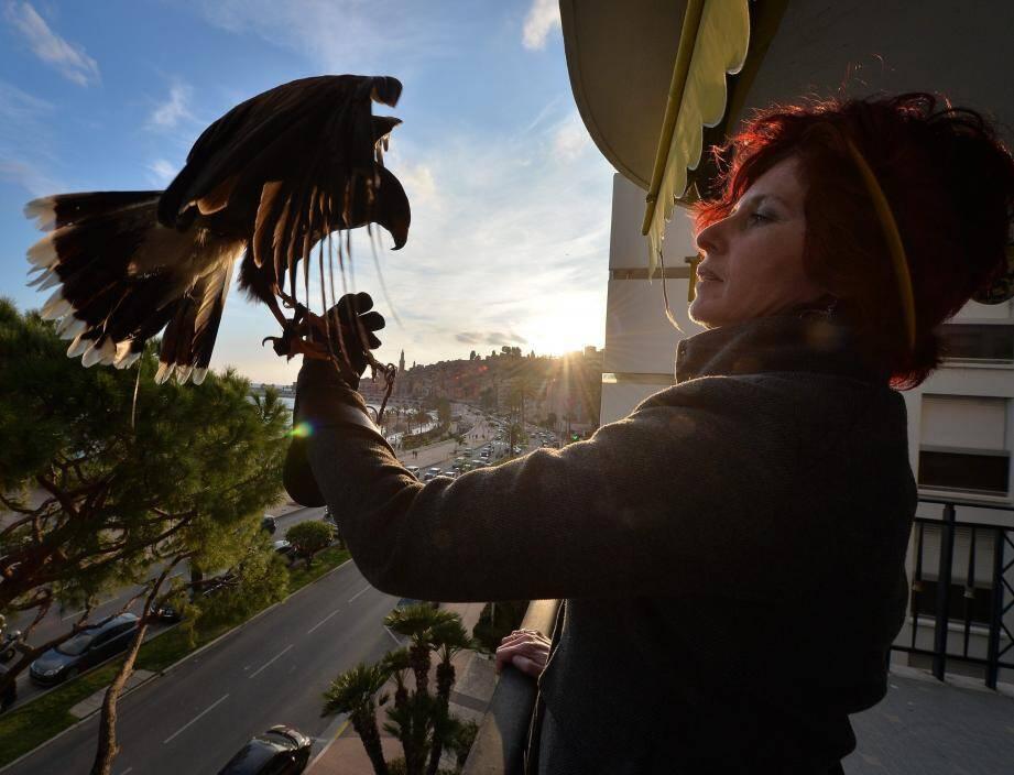 Alain et Isabelle Corci se sont vu confier la mission d'effaroucher les pigeons qui embarrassent les copropriétaires du Santa Maria.