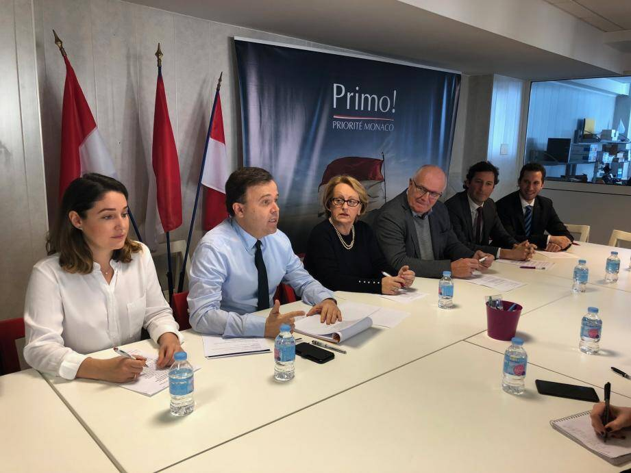 Après les commentaires politiques de leur leader, les colistiers de Primo ! ont évoqué trois dossiers : la priorité nationale, la SBM et la fonction publique.