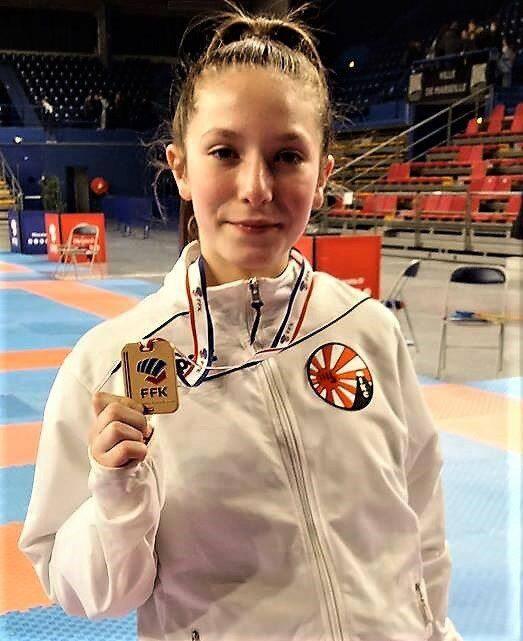 La jeune pensionnaire du CKC s'est distinguée dans cette compétition nationale.