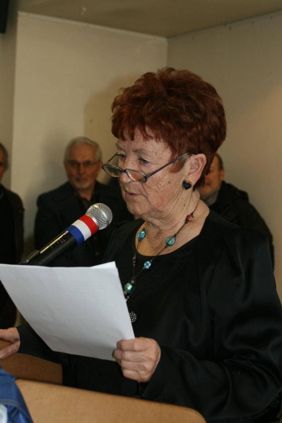 Jeannine d'Andréa a évoqué les diminutions de l'Etat sur les dotations et taxes locales.