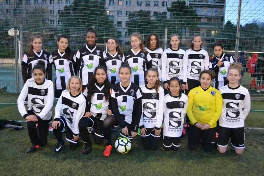 Les U12-U14 filles récompensées pour leur fair-play.