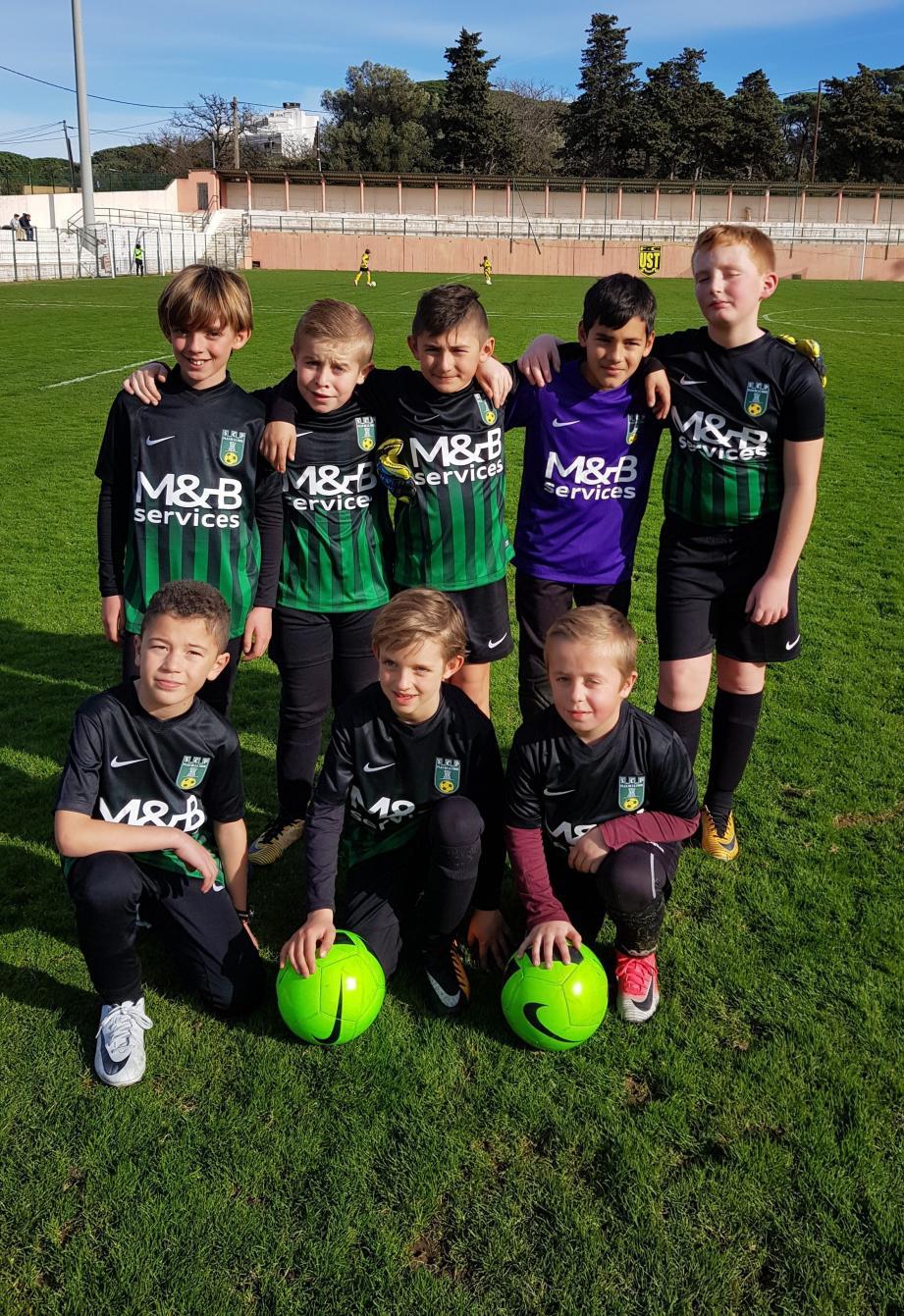 Les U11 sont allés gagner 7 à 1 au FCU Saint-Tropez : la relève du club est assurée !