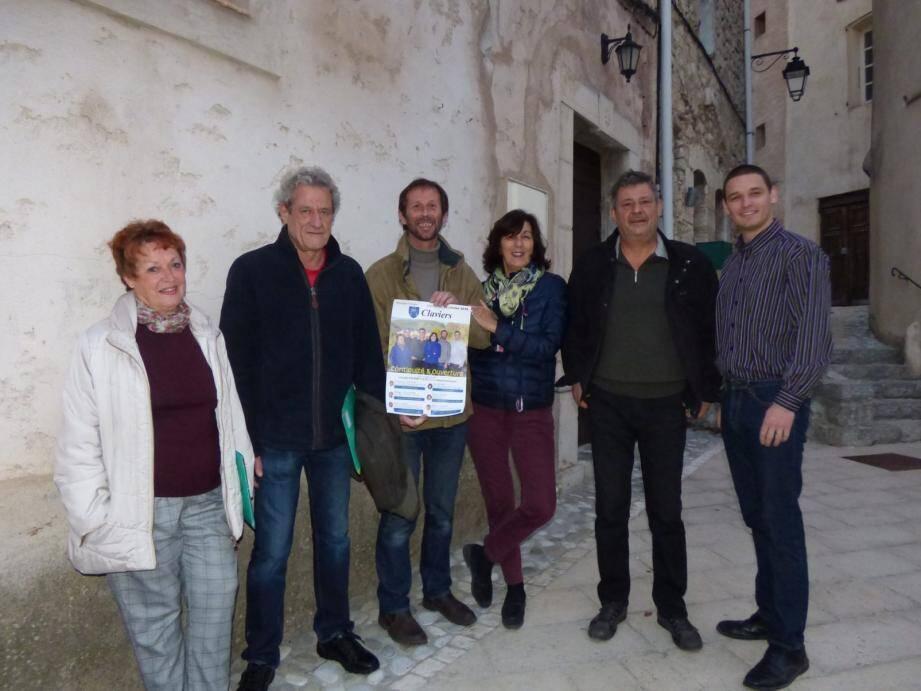 De gauche à dte : Hélène Taupin, Philippe Collignon, Frédéric Gerst, Carole Ivars, Didier Valenti et Guillaume Casciari