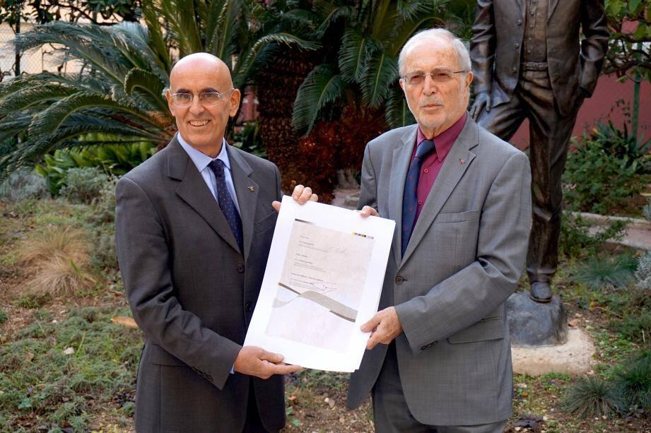 La candidature a été signée par Bernard Fautrier et Paolo Salsotto, président  du parc européen Alpi Marittime-Mercantour.