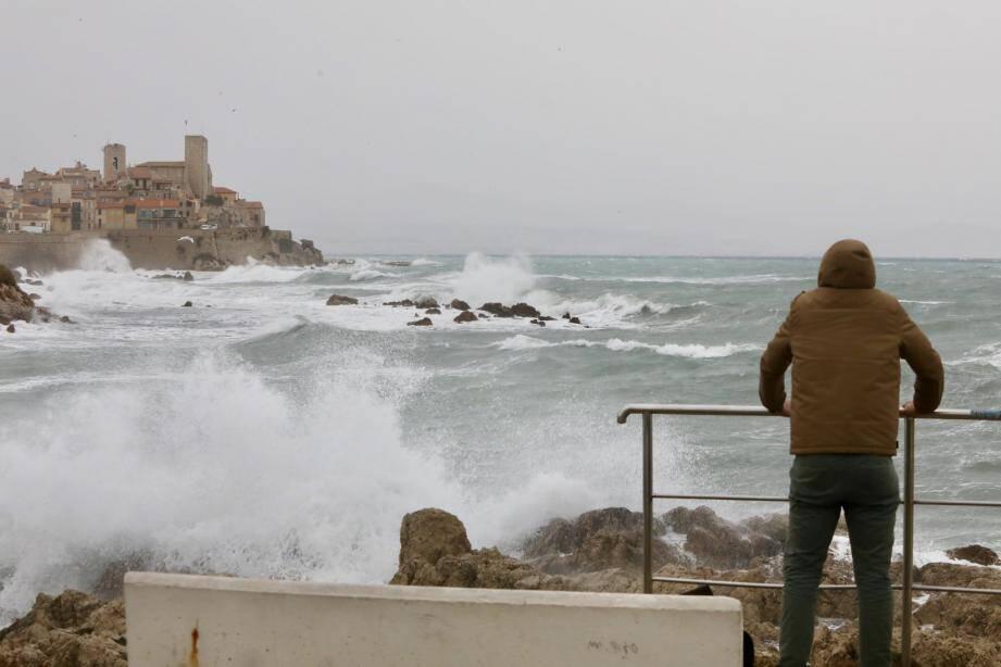 Image d'illustration du mauvais temps à Antibes.