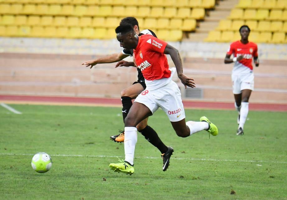 Meïté lors du match amical contre Nîmes début septembre.