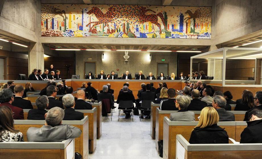 Audiences solennelles de rentrée au tribunal de grande instance de Draguignan, en 2015.