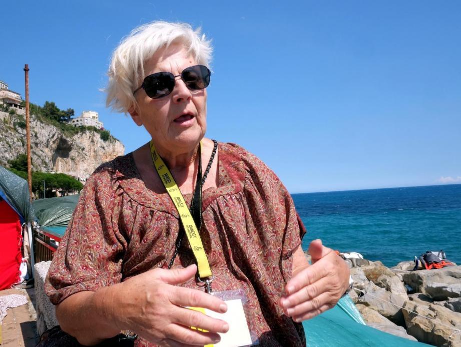 Martine Landry, responsable d'Amnesty international à Nice.